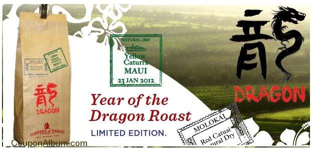 coffees of hawaii year of dragon roast