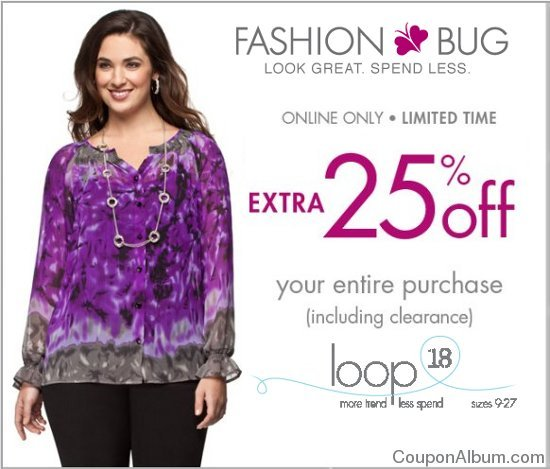 Fashion Bug Online Shopping The model in the image above