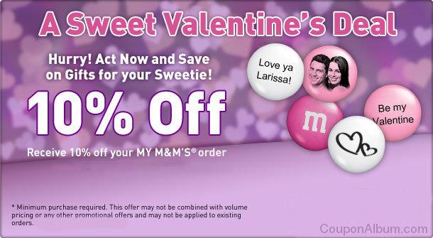 my m&ms valentine day offer