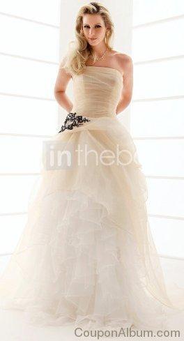 organza ruffles wedding dress