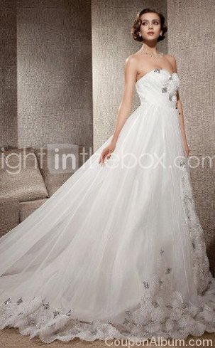 organza satin wedding dress