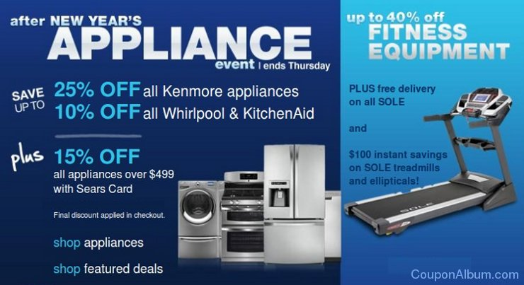 sears after new year appliance event