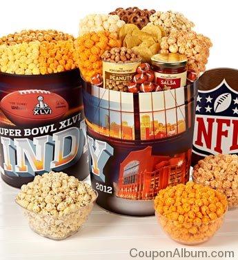super bowl popcorn snack tins