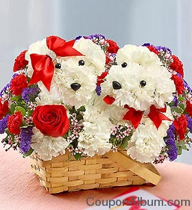 valentine day flowers basket