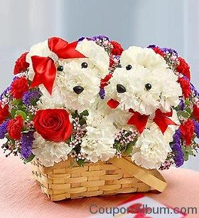 valentine day flowers basket