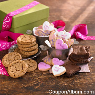 valentines day cookie and brownie gift