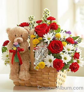 valentines day flower basket