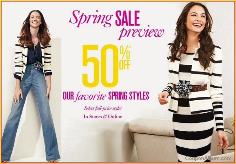ann taylor loft spring sale preview