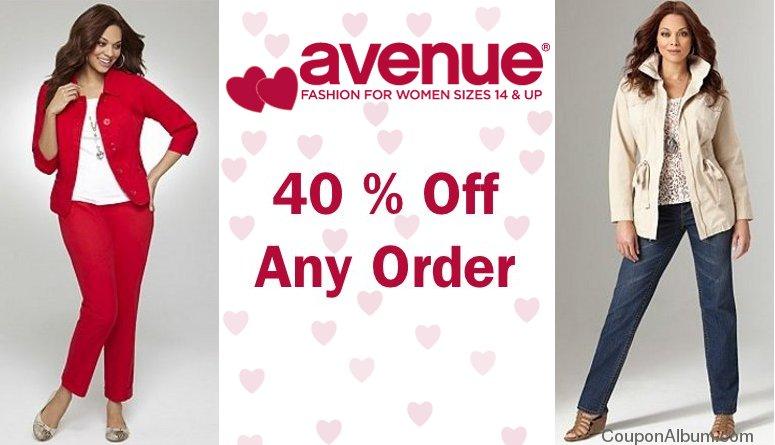 avenue valentine coupon