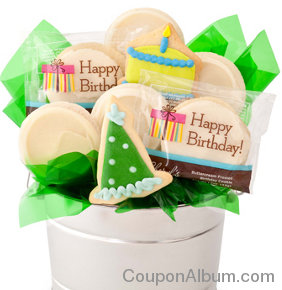 birthday cookie flower pot