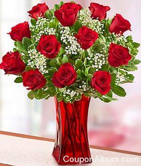 blooming love 12 premium red roses