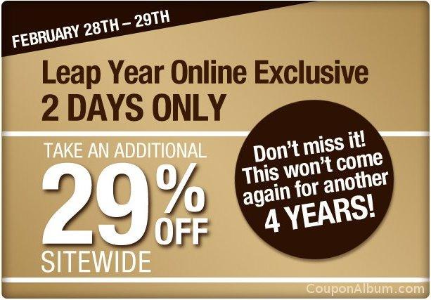 body shop leap year sale