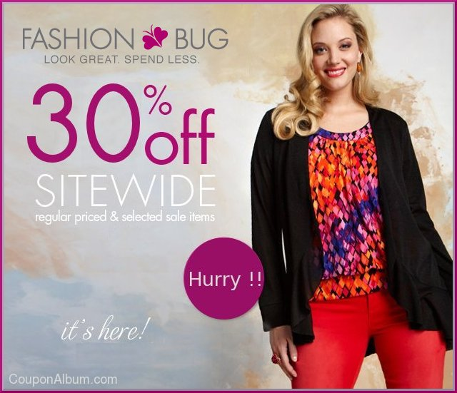 fashion bug hot coupon
