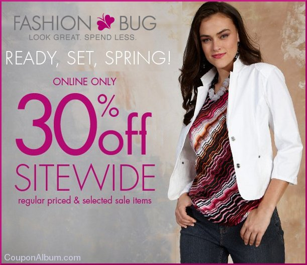 fashion bug online event