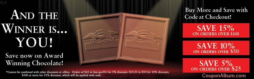 ghirardelli chocolate buy more save more event