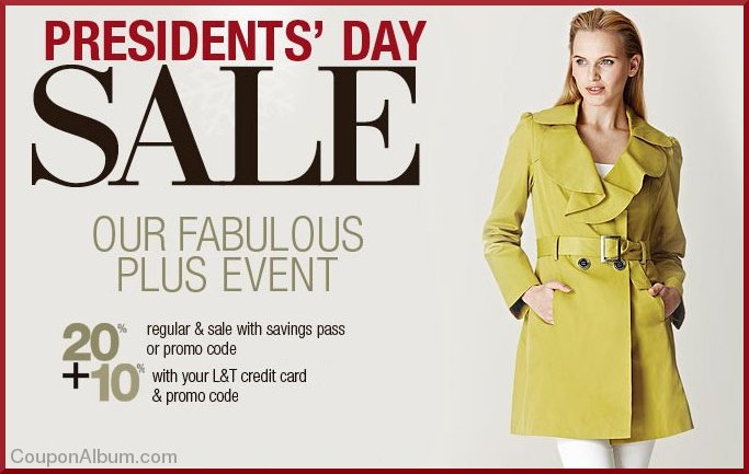lord & taylor presidents day sale