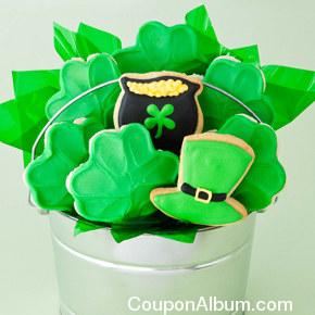 st patricks day cookie flower pot