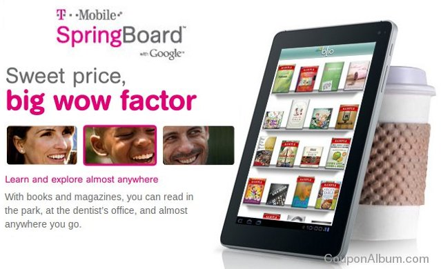 t-mobile springboard 4g-tablet