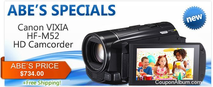 Canon VIXIA HF M52 HD Camcorder