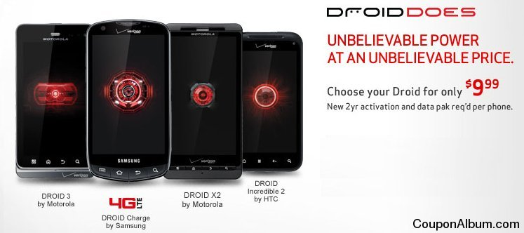 erizon Wireless 12-Day Exclusive Droid Websale