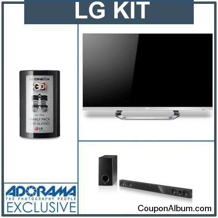 LG 47LM6700 3D Smart TV Bundle