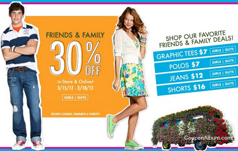 aeropostale friends-family event