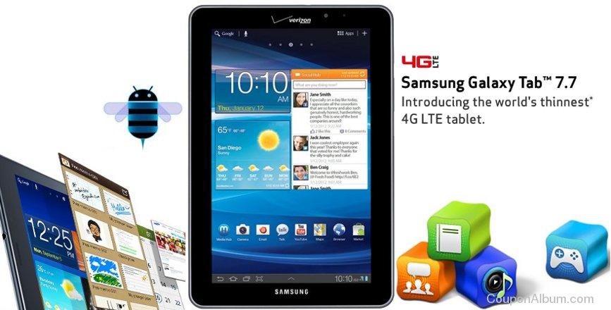 samsung galaxy 7.7 4g tablet