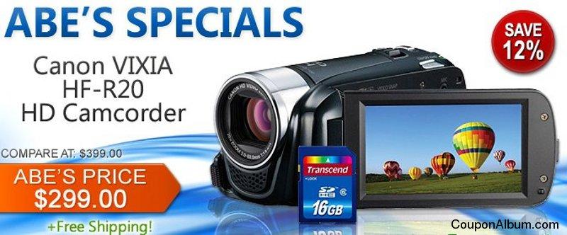 Canon VIXIA HF-R20 HD Camcorder