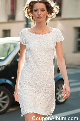 Lace Shift Dress by La Redoute