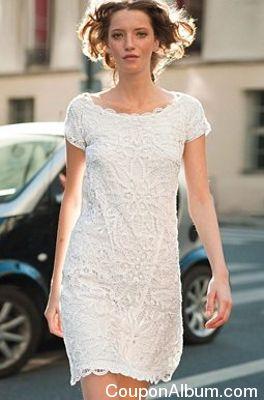 Lace Shift Dress by La Redoute