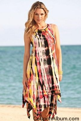 Uneven Hem Tie-Dye Dress