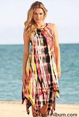 Uneven Hem Tie-Dye Dress