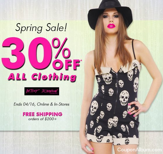 betsey johnson spring sale