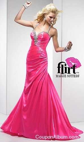 floor length halter top prom dress