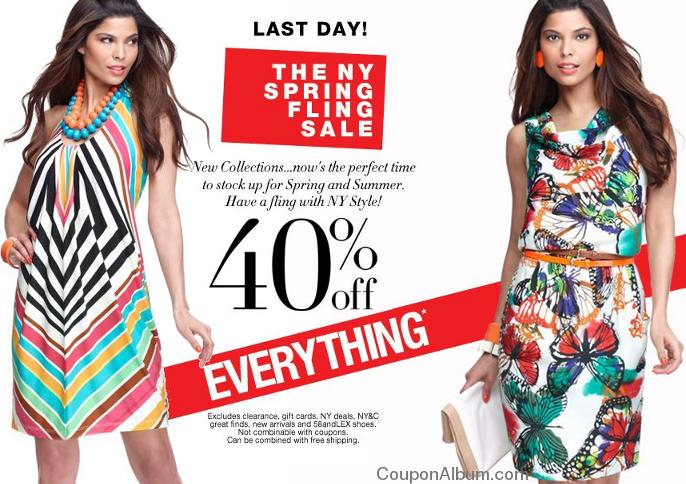 nycompany spring fling sale