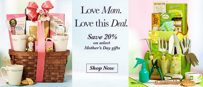 1800 baskets mothers day gifts