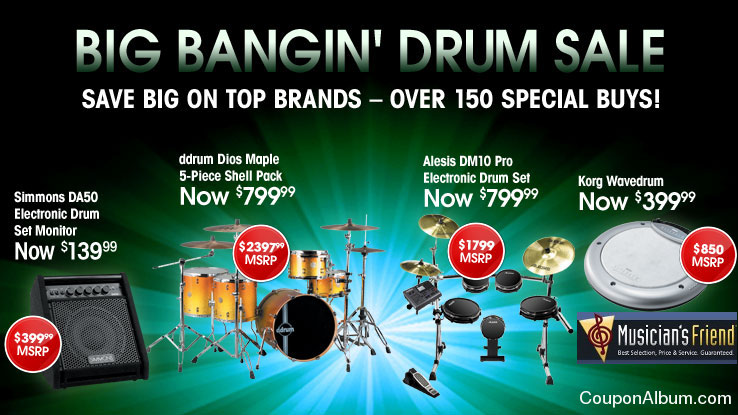 Musician's Friend Big Bangin' Drum Sale