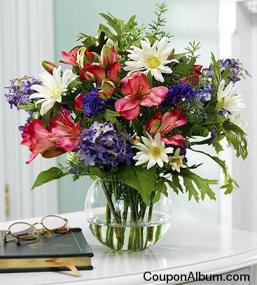 alstromeria and daisies