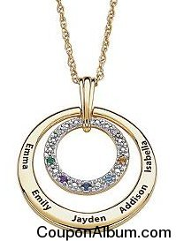family name circle pendant