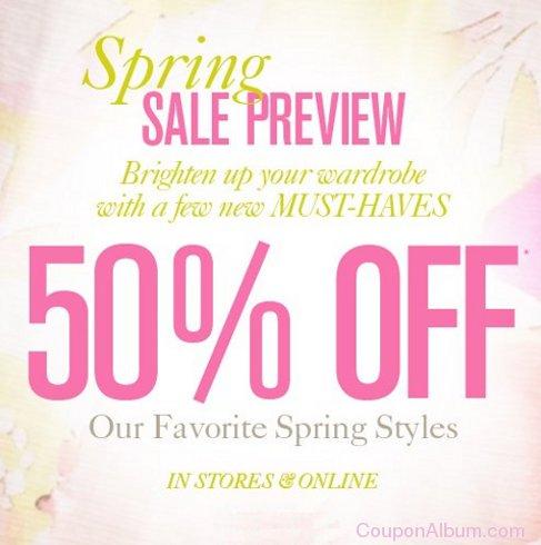 loft spring sale preview