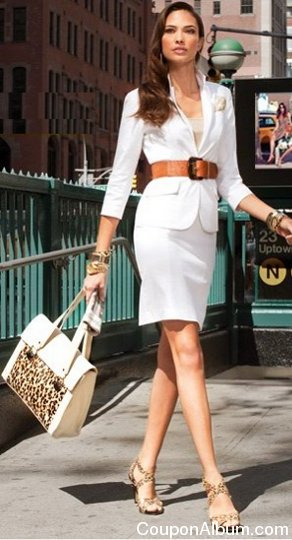 Look 1 arrive in style with fitted shirtdress and glam heels