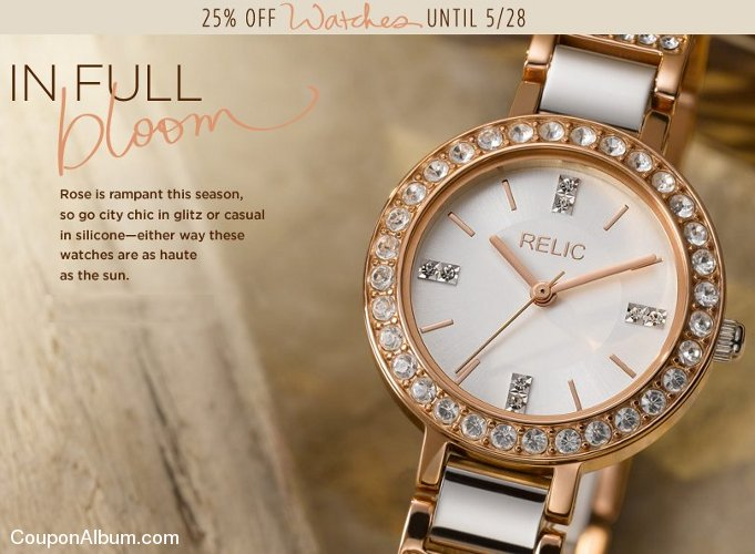 relic brand rose watch