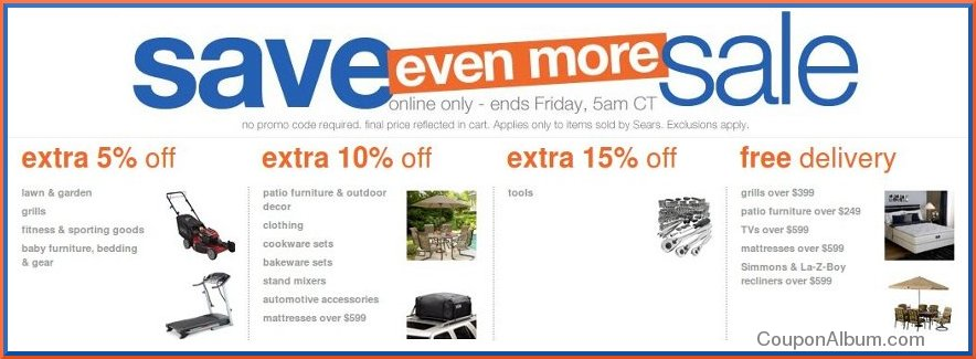 sears save even more sale