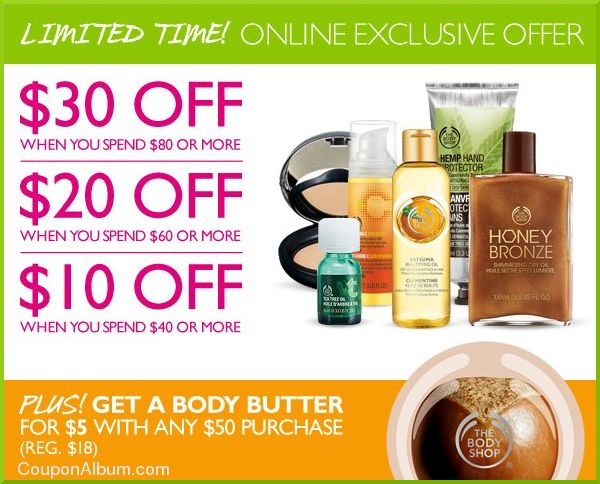body shop online savings