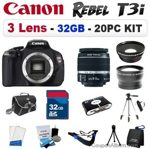 canon eos rebel t3i bundle