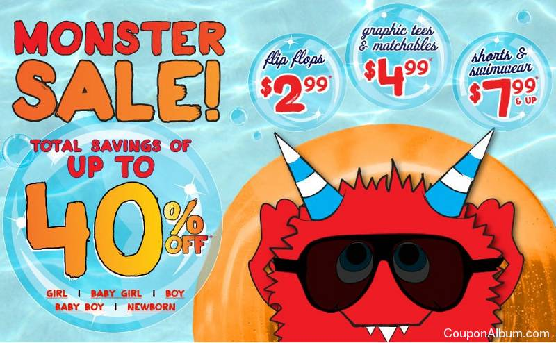 childrens place monster sale