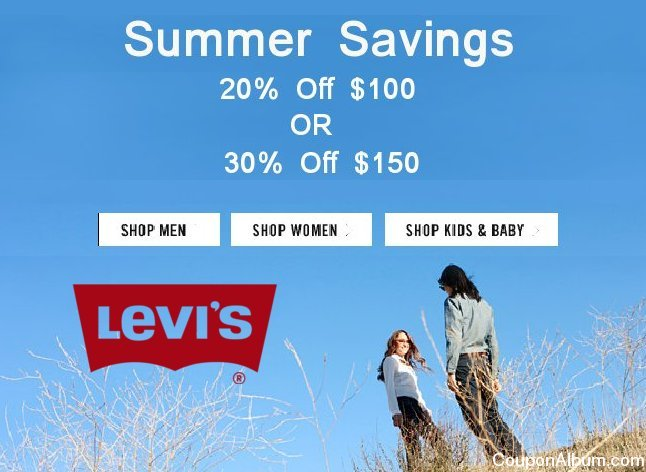 levis summer savings