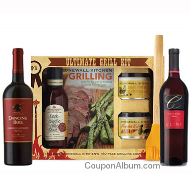 stonewall kitchen grilling-wine gift set