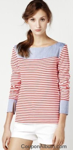 stripe oxford top