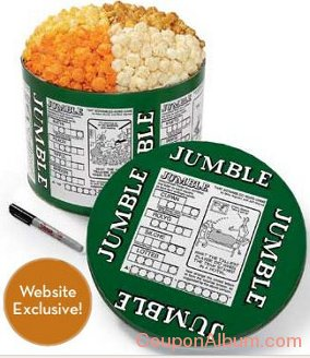 word jumble popcorn tin